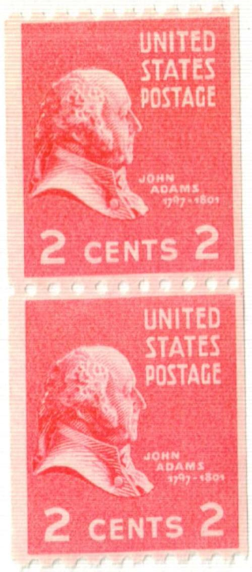1939 2c John Adams, carmine