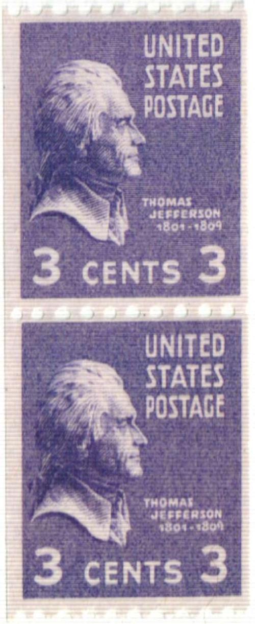 1939 3c Thomas Jefferson, purple