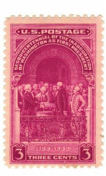 1939 3c Inauguration of Washington Sesquicentennial