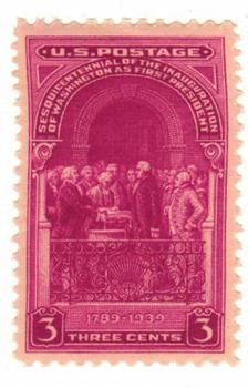 1939 3c Inauguration Of Washington Sesquicentennial For Sale At Mystic Stamp Company