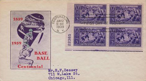 1939 3c Baseball Centennial