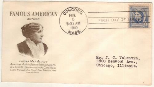 U.S. #862 FDC – 1940 Alcott First Day Cover.