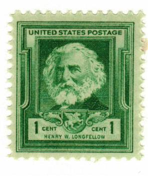 1940 Famous Americans: 1c Henry Wadsworth Longfellow