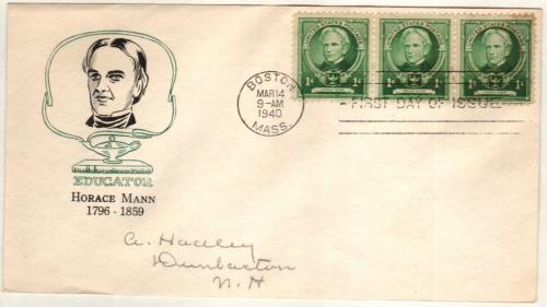 1940 Famous Americans: 1c Horace Mann
