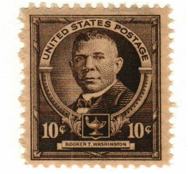 1940 Famous Americans: 10c Booker T. Washington