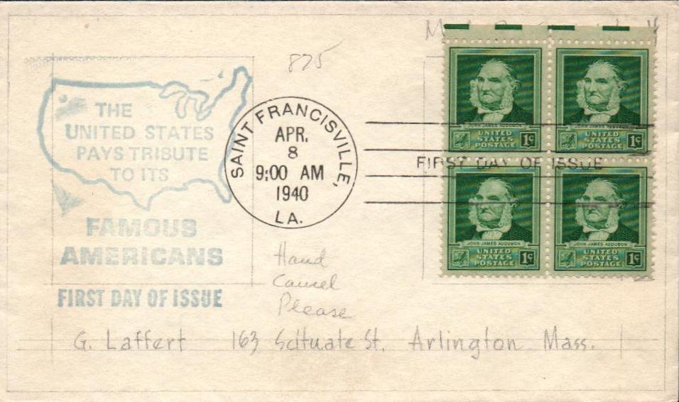 1940 Famous Americans: 1c John James Audubon