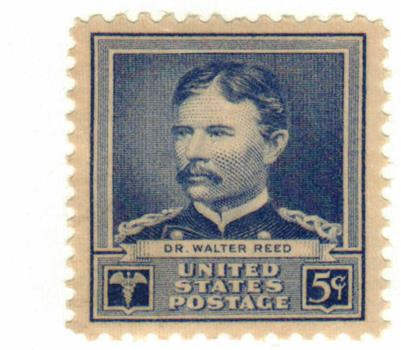 1940 Famous Americans: 5c Dr. Walter Reed