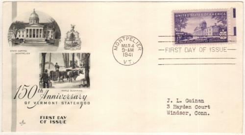 1941 3c Vermont Statehood