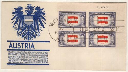 1943 5c Flag of Austria