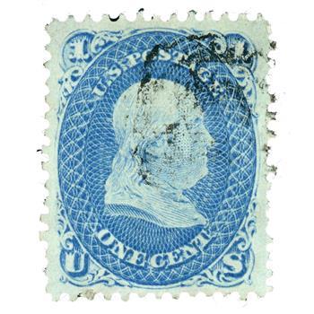 1867 1c Franklin, blue