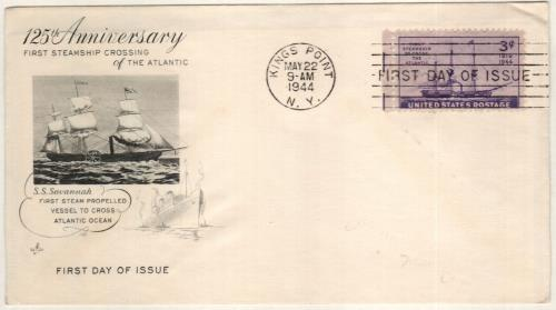 1944 3c Steamship 'Savannah'