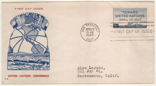 1945 5c UN Peace Conference