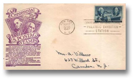 1947 3c Postage Stamp Centenary