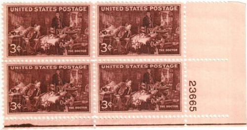 1947 3c The Doctor For Sale At Mystic Stamp Company