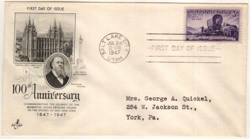 1947 3c Utah Centennial