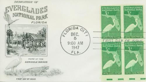 1947 3c Everglades National Park