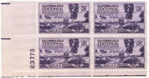1948 3c California Gold Rush Centennial