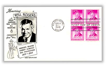 1948 3c Will Rogers