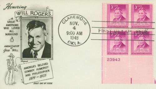 U.S. #975 FDC – 1948 Rogers First Day Cover.