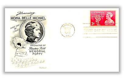 1948 3c Moina Michael