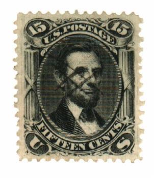 1867 15c Lincoln, black