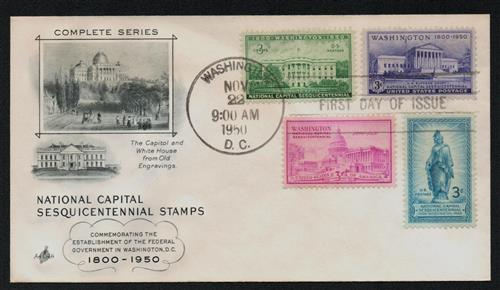 Complete Set of 4, 1950 Capital Sesquicentennial