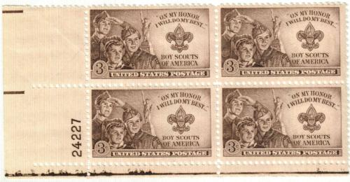 1950 3c Boy Scouts of America
