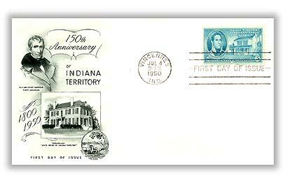 1950 3c Indiana Territory