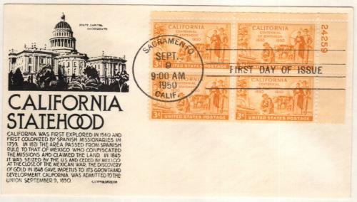 1950 3c California Statehood Centennial