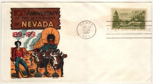 1951 3c Nevada Settlement
