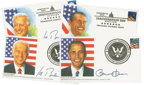 2009 Inaugural Covers, set of 4