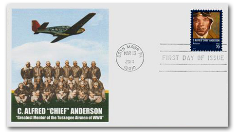 2014 70c Distinguished Americans: C. Alfred 'Chief' Anderson