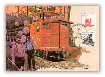 1984 11c Railroad Caboose Maximum Card