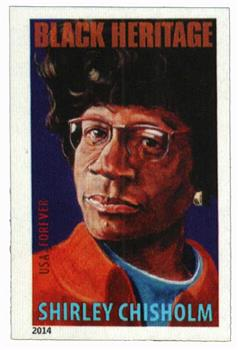 2014 First-Class Forever Stamp - Imperforate Black Heritage: Shirley Chisholm