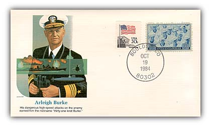 1984 Arleigh Burke Commemorative Cover
