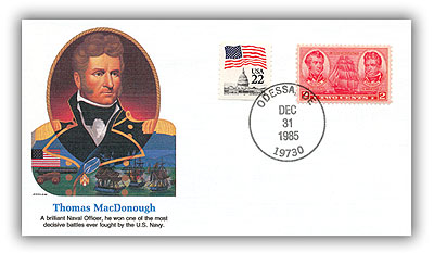 1984 Thomas MacDonough Commemorative Cover