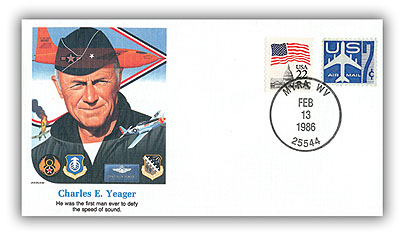 1986 Charles E Yeager Commemorative Cover