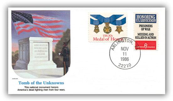 1986 Tomb/Unknown Soldier Comm Cvr