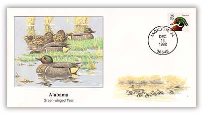 1993 Alabama Green-winged Teal Cover