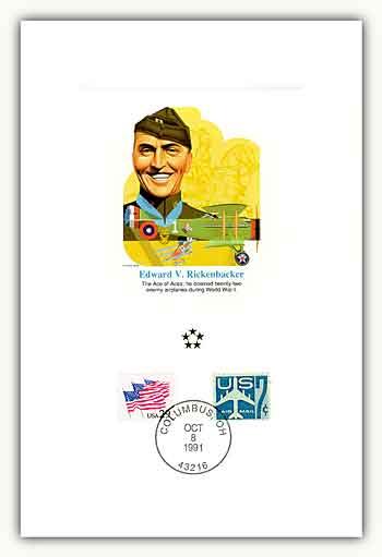 1991 AGMH Edward Rickenbacker Proofcard Only