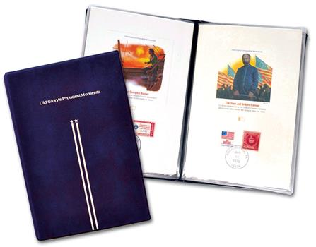 1978 Old Glory's Proudest Moments, set of 12 proof cards with album