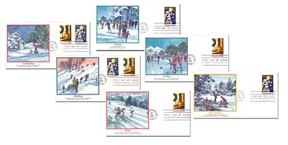 1984 Christmas First Day Covers - Set of 6