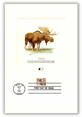 1981 18c Wildlife of America: Moose