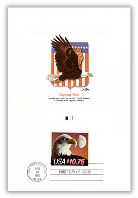 1985 $10.75 Eagle and Moon, booklet single