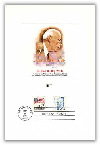 1986 3c Great Americans: Paul Dudley White, M.D.