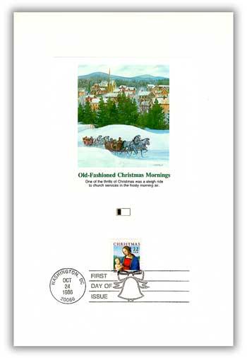 1986 22c Traditional Christmas: Madonna and Child