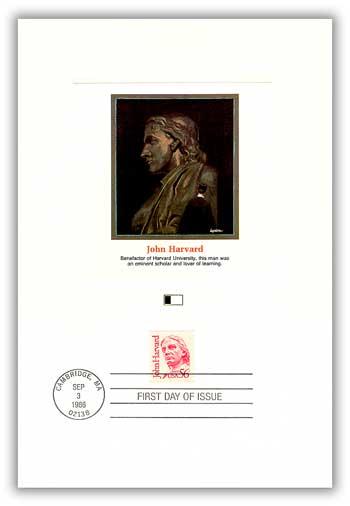 1986 56¢ Great Americans: John Harvard