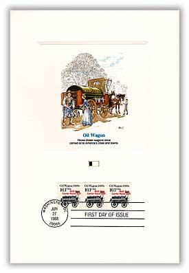 1985 10.1c Transportation Series: Oil Wagon, 1890s