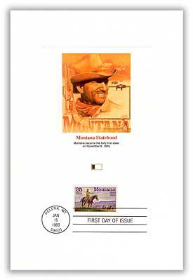 1989 25c Montana Statehood