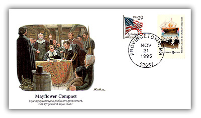 1995 Pilgrim Tercentenary Commemorative Cover